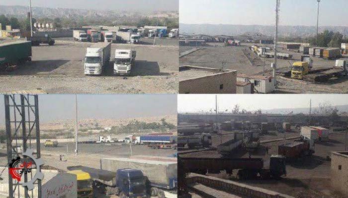 دوازدهمین روز اعتصاب رانندگان کامیون در شهرهای سراسر ایران