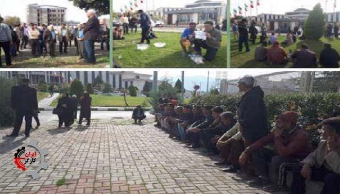 تجمع اعتراضی کارگران و کارکنان واحد کشت و صنعت گلچشمه در استان گلستان
