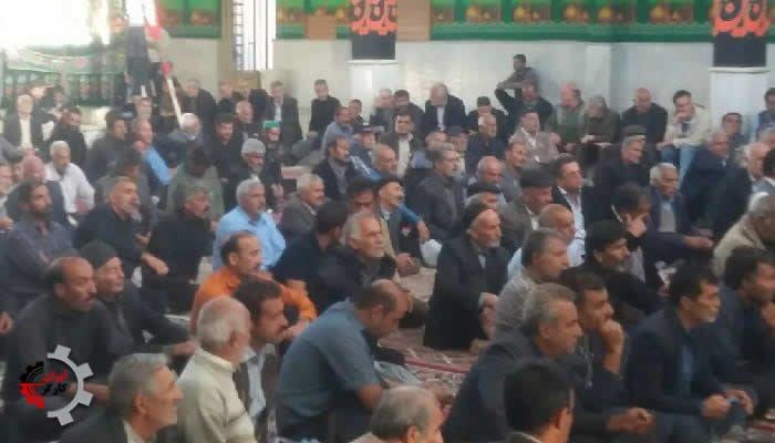 تجمع اعتراضی کشاورزان خوراسگان، شاتور و زیار در حسینیه دشتی