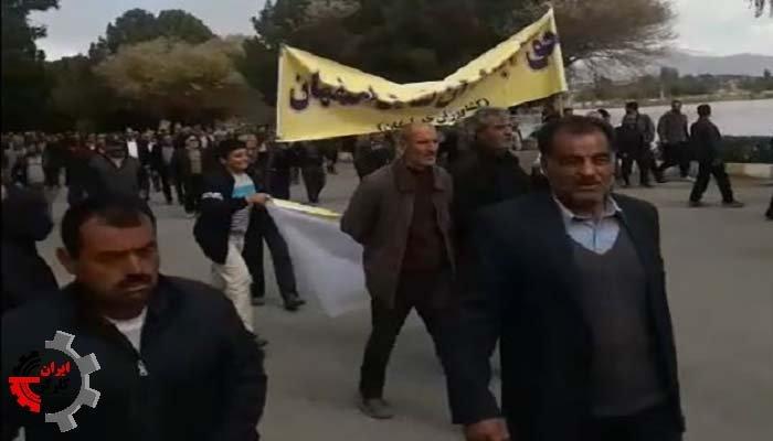 گسترش اعتراض کشاورزان اصفهان-سد چم آسمان