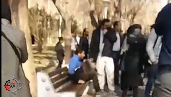 حمله ماموران انتظامی به فرهنگیان اصفهان