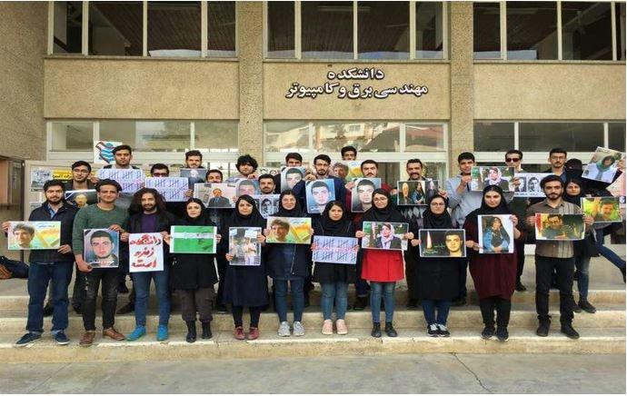 عکس دستهجمعی دانشجویان دانشگاه مهندسی برق و کامپیوتر نوشیروانی بابل