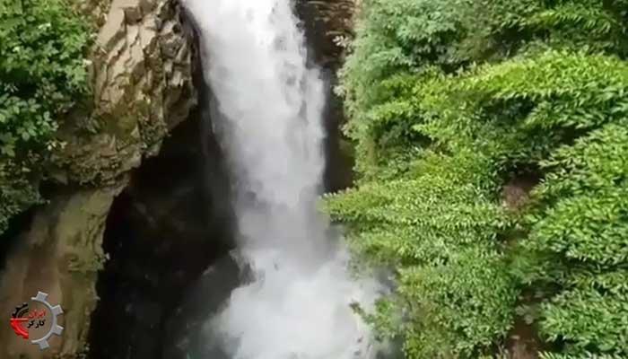 آبشار ویسادار نگین جذاب جنگلهای گیلان