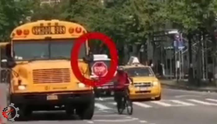 مقایسه اتوبوس مدرسه در کشورهای دیگر با سوختن با بخاری نفتی مدرسه