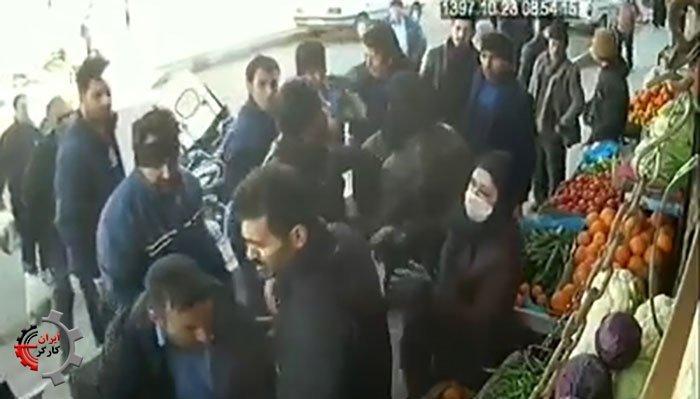 حمله وحشیانه ماموران به میوه فروشان