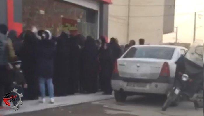 صفهای طولانی گوشت منجمد در اصفهان