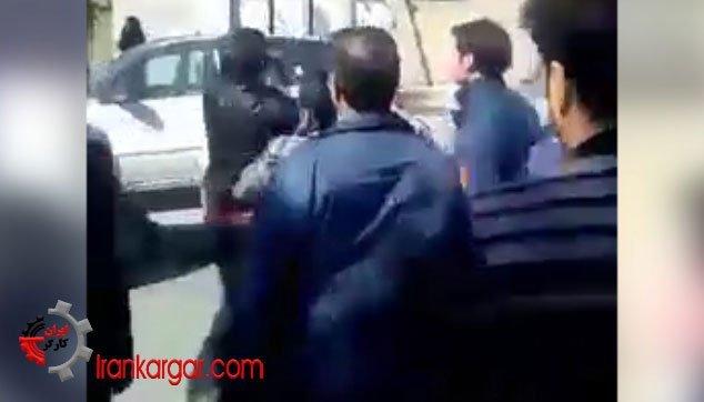 کتک زدن میوه فروش محروم توسط ماموران وحشی شهرداری سبزوار