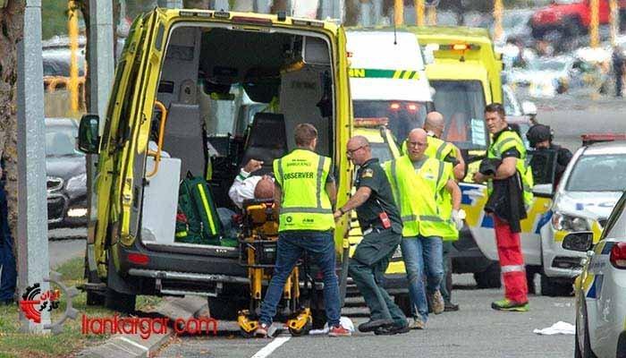 حمله مرگبار در نیوزیلند به دو مسجد با نزدیک به ۵۰ نفر کشته