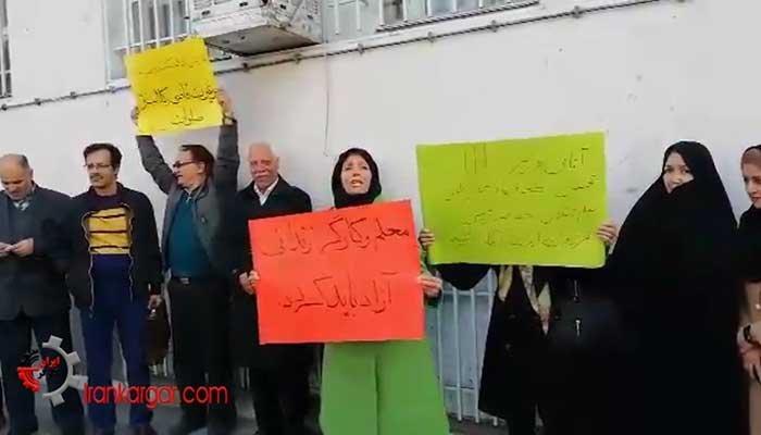 سخنان شجاعانه یک خانم معلم در تجمع فرهنگیان مشهد