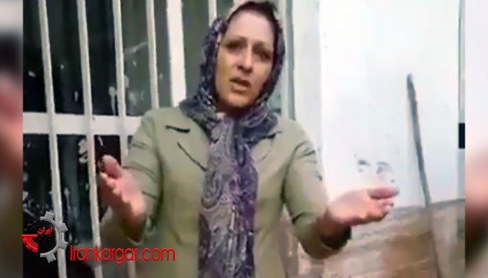 فغان و شکایت خانم شیرازی از عدم رسیدگی و وضعیت فاجعه بار بعد از سیل