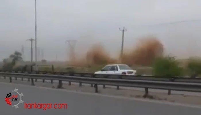 فیلم نشتی هولناک از لولههای گاز آزادراه اهواز به ماهشهر دقایقی قبل از انفجار