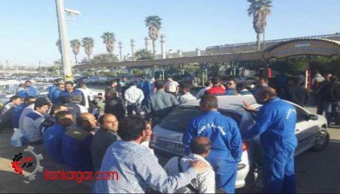اعتصاب کارگران بخش تعمیرات پالایشگاه آبادان