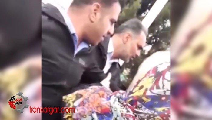حمله ماموران وحشی شهرداری به یک خانم دستفروش