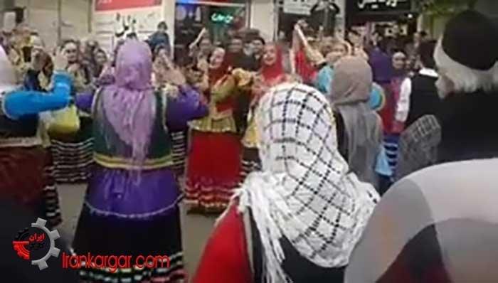 رقص نوروزی و نمایش خیابانی در سیاهکل