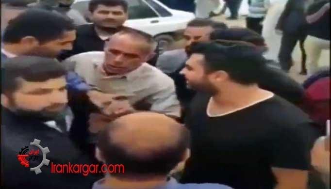 توهین وقیحانه استاندار خوزستان به مرد معترض