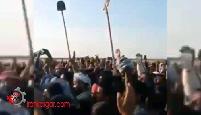 استقبال جانانه هموطنان خشمگین از سردار نقدی در جنوب اهواز
