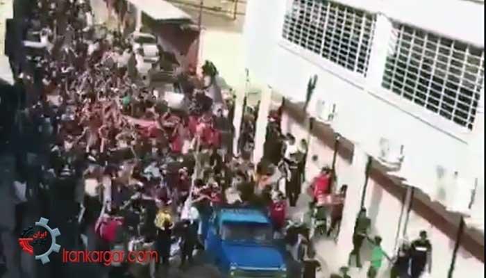 فیلم تظاهرات خشمگینانه اهالی سیل زده خوزستان در اهواز