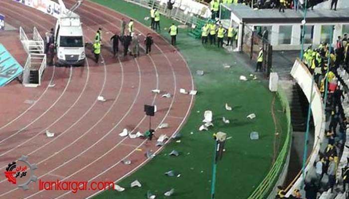 درگیری در ورزشگاه آزادی تهران با دستکم ۲۴۵ مصدوم