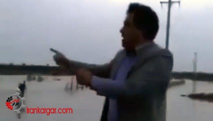 فریاد اعتراض یکی از سیلزدگان علیه مقامات دولتی در هورالعظیم