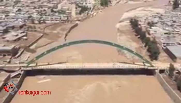 فیلم هوایی از پلدختر بعد از فاجعه سیل و فروکش کردن سیلاب