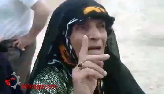گله مادر رنجدیده خرمآبادی از دروغهای دولتی سر امدادرسانی به سیلزدگان