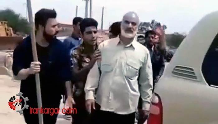 حمله اهالی خشمگین به فرمانده سپاه