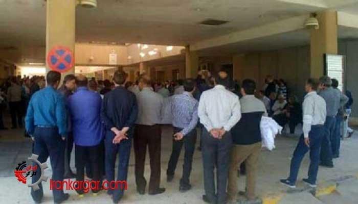 اعتصاب کارکنان بیمارستان صنایع پتروشیمی بندر ماهشهر