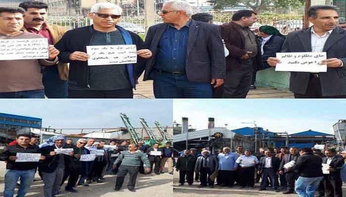 اعتصاب کارگران نیشکر هفتتپه و سرکوب و بازداشت آنها توسط ماموران انتظامی
