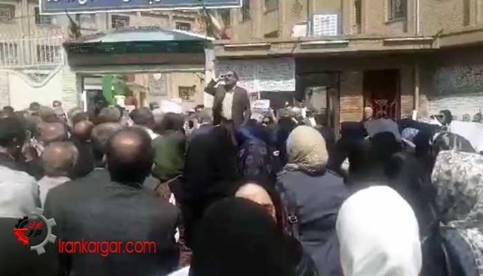 سخنان تکان دهنده یک معلم شجاع در تجمع معلمان کرمانشاه