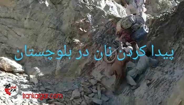 نحوه عجیب حمل چند دبه سوخت در کوهها برای جنگ با گرسنگی در بلوچستان