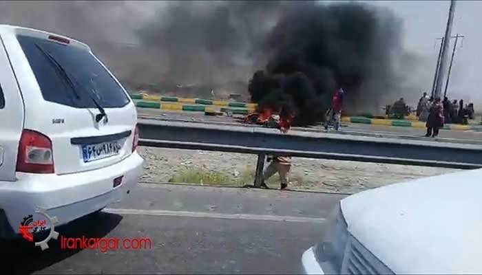 بستن جاده و درگیری مردم میرآباد