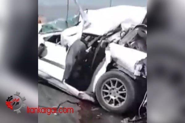 تصادف هولناک چندین خودرو در محور صفاشهر_آباده