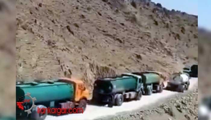 قاچاق سوخت توسط سپاه با ستونی از صدها تانکر