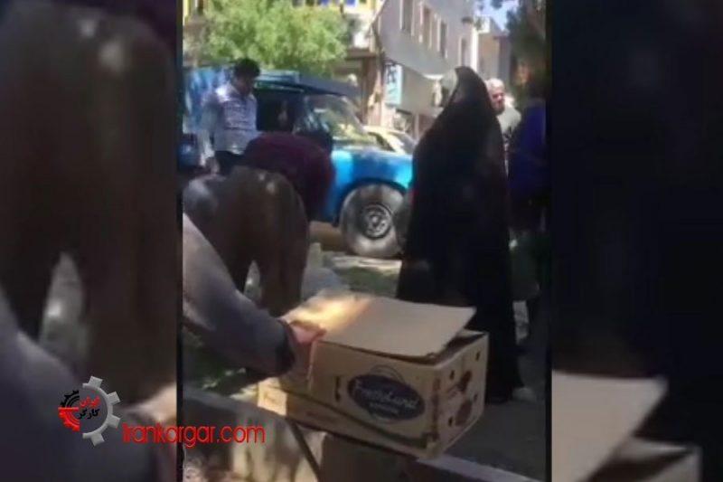 غارت وحشیانه سبزیهای دستفروش بیپناه توسط ماموران شهرداری سنندج