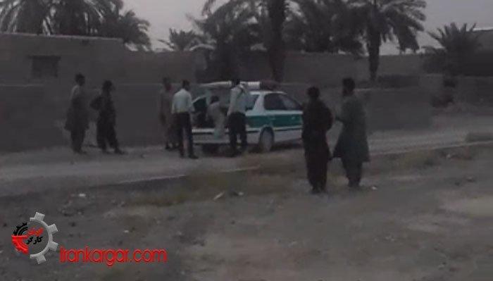 بهزور انداختن بازداشتشدگان در صندوق عقب توسط ماموران انتظامی ایرانشهر