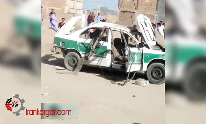 انفجار خودروی نیروی انتظامی