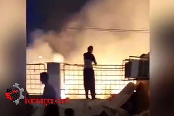 آتشسوزی در کانکسهای زلزلهزدگان سرپل ذهاب یکشنبه ۱۶تیرماه