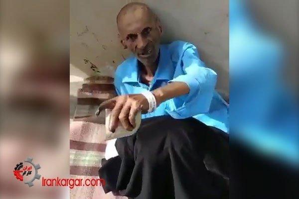 پیرمرد بیمار دیابتی که بخاطر بیپولی از بیمارستان نمازی بیرون انداخته