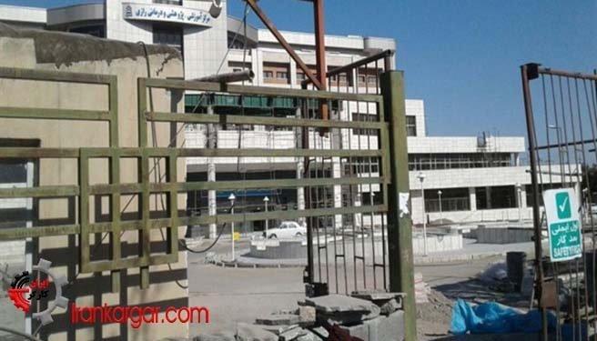 تجمع کارگران ساختمانی بیمارستان رازی بیرجند در اعتراض به حقوقهای پرداخت نشده