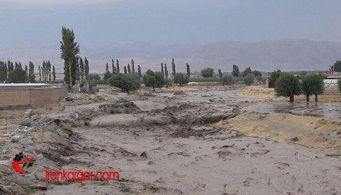 سیلاب ناگهانی اهالی روستاهای اطراف سلماس