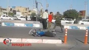 ضرب و شتم جوان موتورسوار شیرازی