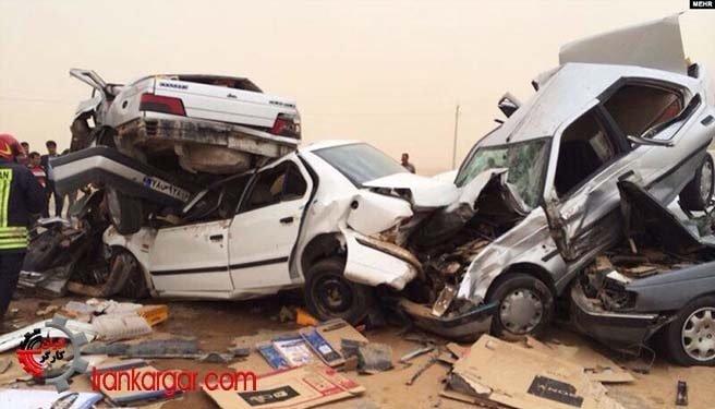 ایران در بالاترین جایگاه جهانی تصادفات جادهای