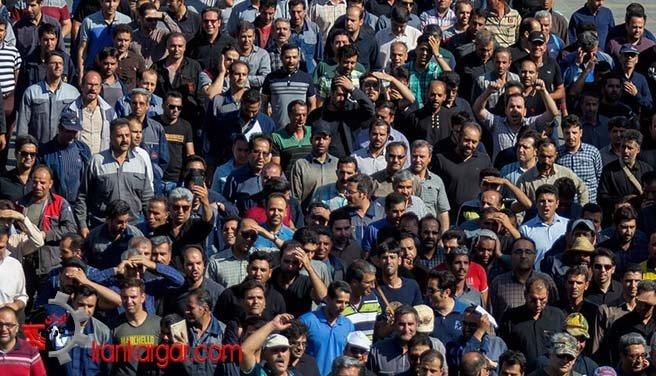 تجمع کارگران کنتورسازی قزوین و راهپیمایی کارگران آذرآب