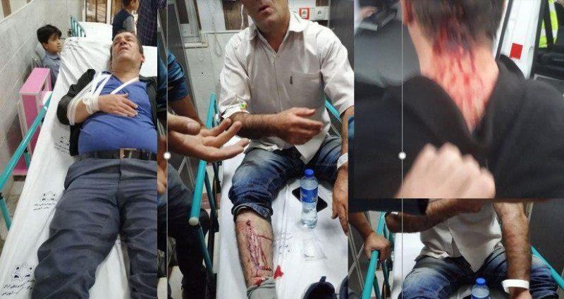ضرب و شتم وحشیانه کارگران هپکو توسط یگان ضربت