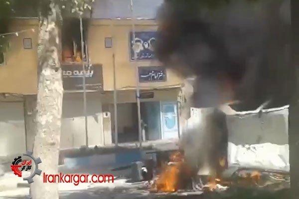 لردگان به آتش کشیدن دفتر امام جمعه